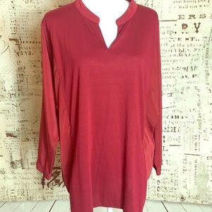 Lane Bryant Sz 18/20 2X Red stretchy blouse